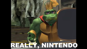 King K. Rool's Reaction to Ryu and Roy in Smash 4 by tallsimeon2003