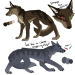 Shield Wolf designs for Kique by M0LTEN-R0SE