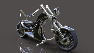3D eCycle Black 03 by llexandro