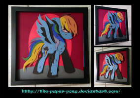 Commission: Rainbow Factory Rainbow Dash by The-Paper-Pony