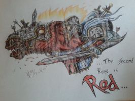 ...The Second Horse Is Red... - coloured by Seth19931