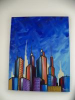 strive one cityscape painting by STRIVE-ONE