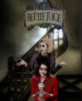 beetlejuice and lydia deets by littlemissstrangelet