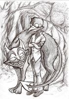 Claudio and the Cheshire Cat by Shadow-Nexus