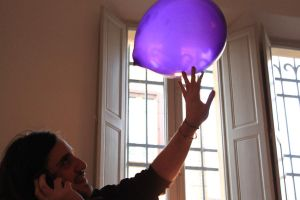 Bad he           and a balloon by CosmicHen