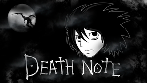 Wallpaper Death Note - L by vcdesenhos