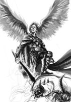 Saint Michael Archangel by daniel-shagrath