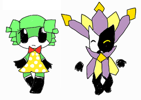 Paper baddies for Nuii by NaturisticLeafy