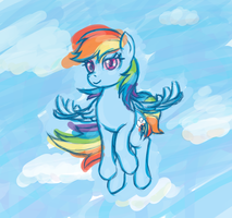 Rainbow Dash Float by cow41087