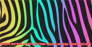 Colorful Zebra Cover Background by mjmoonwalkerfan