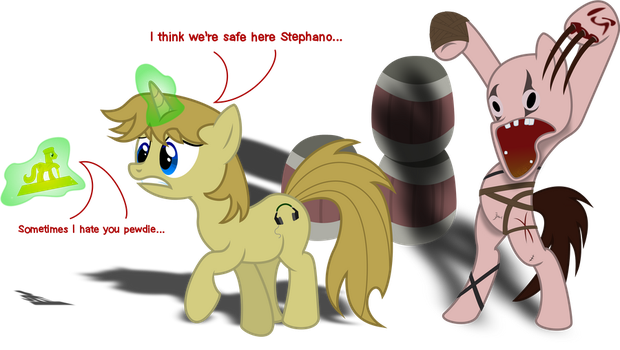 Pewdiepony and Stephano by lightningtumble