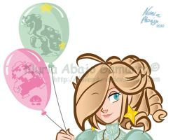 the balloons of Rosalina by Iluvendure