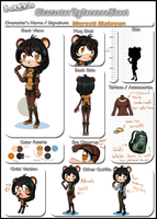 Redesigned Meresti Reference Sheet by kayoko-chan