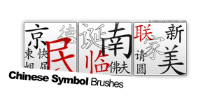 Chinese Symbols Brushes. by jlynnxx