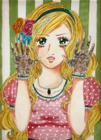 Hands up, Porcelain Doll. by damselle-xo