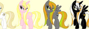 Five Point Pony Adopts #3OPEN TWO LEFT by SquidPup