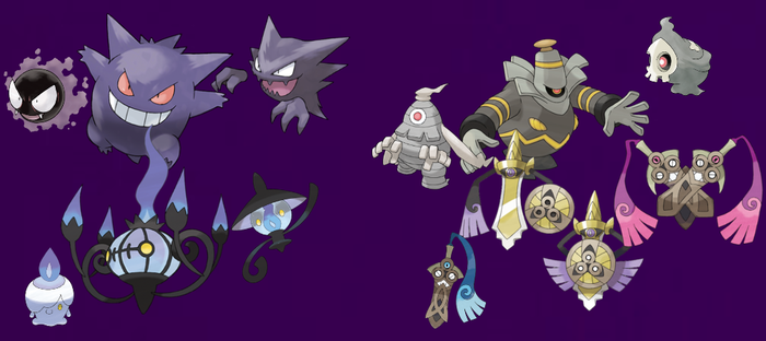 Pokemon: 3-Stage Families - Ghost Types by quintonshark8713