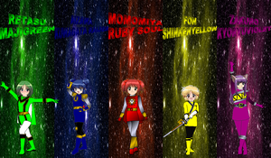 Mew Mew Rangers for Pmaster77 by rangeranime