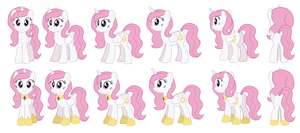 Teen Celestia sprites for Ask Accord by AleximusPrime