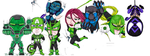 Power Force Lanterns by Clethrow