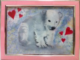 Traditional Painted Adoptables:Baby Polar Bear by JeremyArts