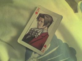 Miles Edgeworth King of Hearts by NishGirl5