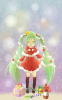 Christmas tree miku by wafers001