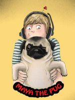 Pewdiepie and maya the pug by candlejack1
