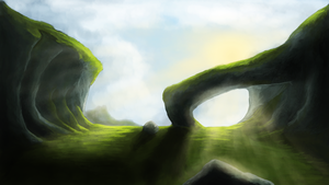 Landscape, trying another style by Watanka