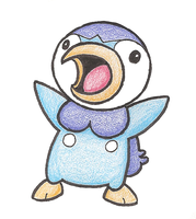 Amazed Piplup by CrispyChris