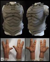 Sontaran Armour and Hands by CB-FX