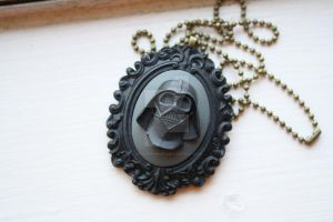 Darth Vader Cameo Necklace by applepiepinups