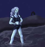 Wraith Queen in a swim suit by Nebulan