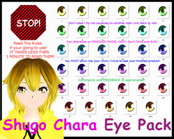 Shugo Chara Eye Pack MMD by Akiiza-sama