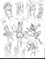 Sketch - Touhou characters by Cyberscythe