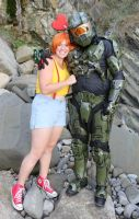 Master Chief and Misty by AccessAccess