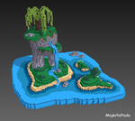 Island design woo // voxel art by MajesticPaula