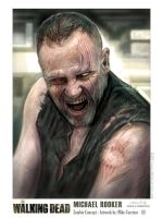 Walking Dead - Rooker Zombie by MIKECORRIERO