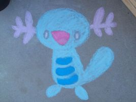 chalk wooper by FrozenFeather