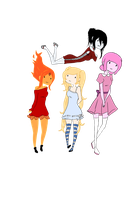 Adventure Time Ladies by lainey-lamb