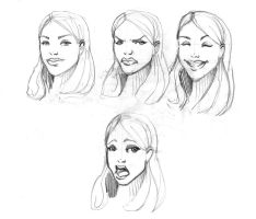 Continuous Face Sketches 2 by Nx3Fox