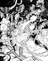 Galactus and the Celestials by dannphillips