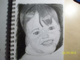 A baby portrait of my sister. practice. by Jessi2012