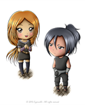 Digital Chibi Commission - Sora and Sasame by Cypernelli