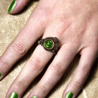 Uranium green Steampunk Ring by CatherinetteRings