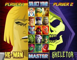He-Man Vs. Skeletor by Weidel