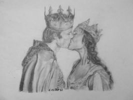 The Kiss for all of Camelot by 16th-of-a-twigg