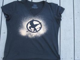 Hunger Games Bleached Tee by waterbender-chan