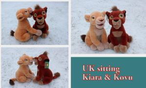 UK sitting Kovu and Kiara by Laurel-Lion