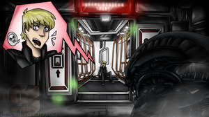 Paypal Commission - A Taste Of Alien: Isolation by NekoMellow
